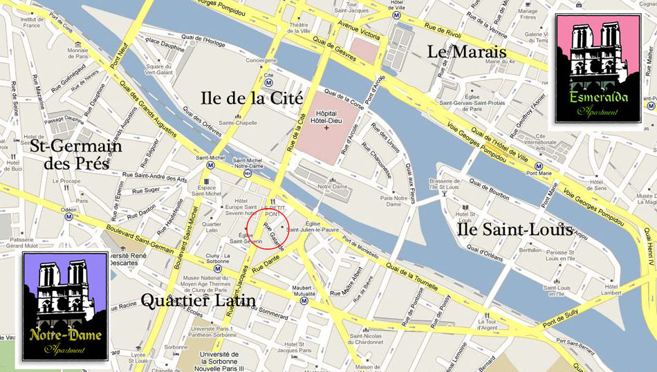 map of quartier latin